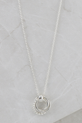 Sterling Silver Triple Circle Necklace