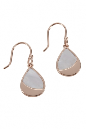 Mother of Pearl and Rose Gold Earrings