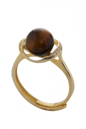 Elegant Tigers Eye Ring