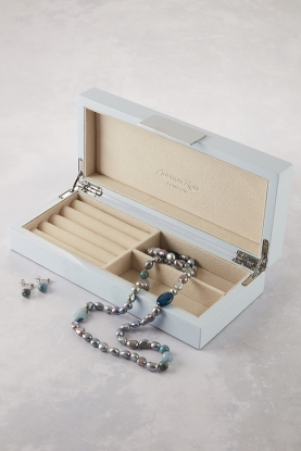 Light Blue Lacquered Jewellery Box