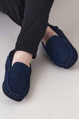 Fleece Lined Moccasin Slippers