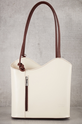 Convertible Leather Bag white