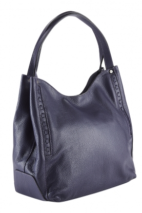 Leather Slouched Tote Bag