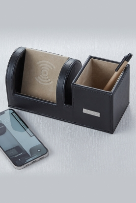 Black Cordless Phone Charger