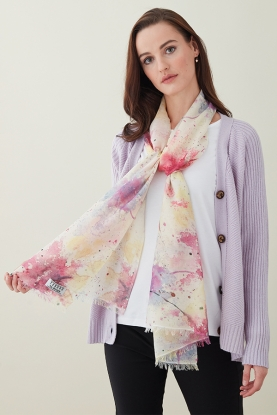 Cashmere Silk Abstract Stole