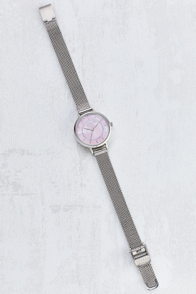Pink Mother of Pearl Dial Watch