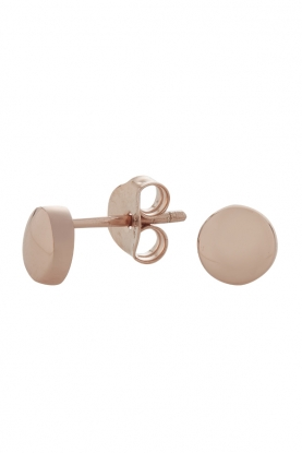 Rose Gold Button Studs