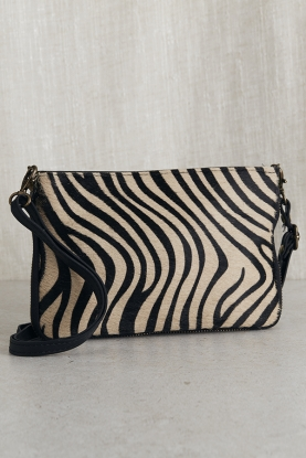 Tiger Print Leather Shoulder Bag