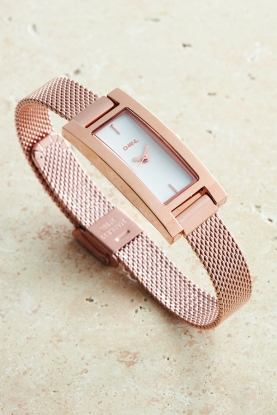 Fashionable Rose Gold Plated Watch
