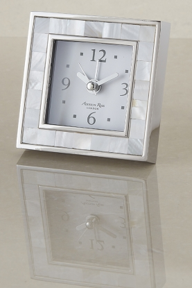 Square Mother Of Pearl Clock
