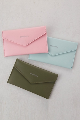 Silk Lined Leather Receipt Envelope