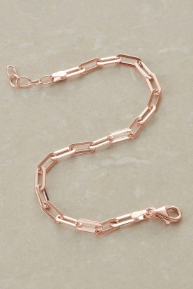 Rose Gold Plate Chain Bracelet