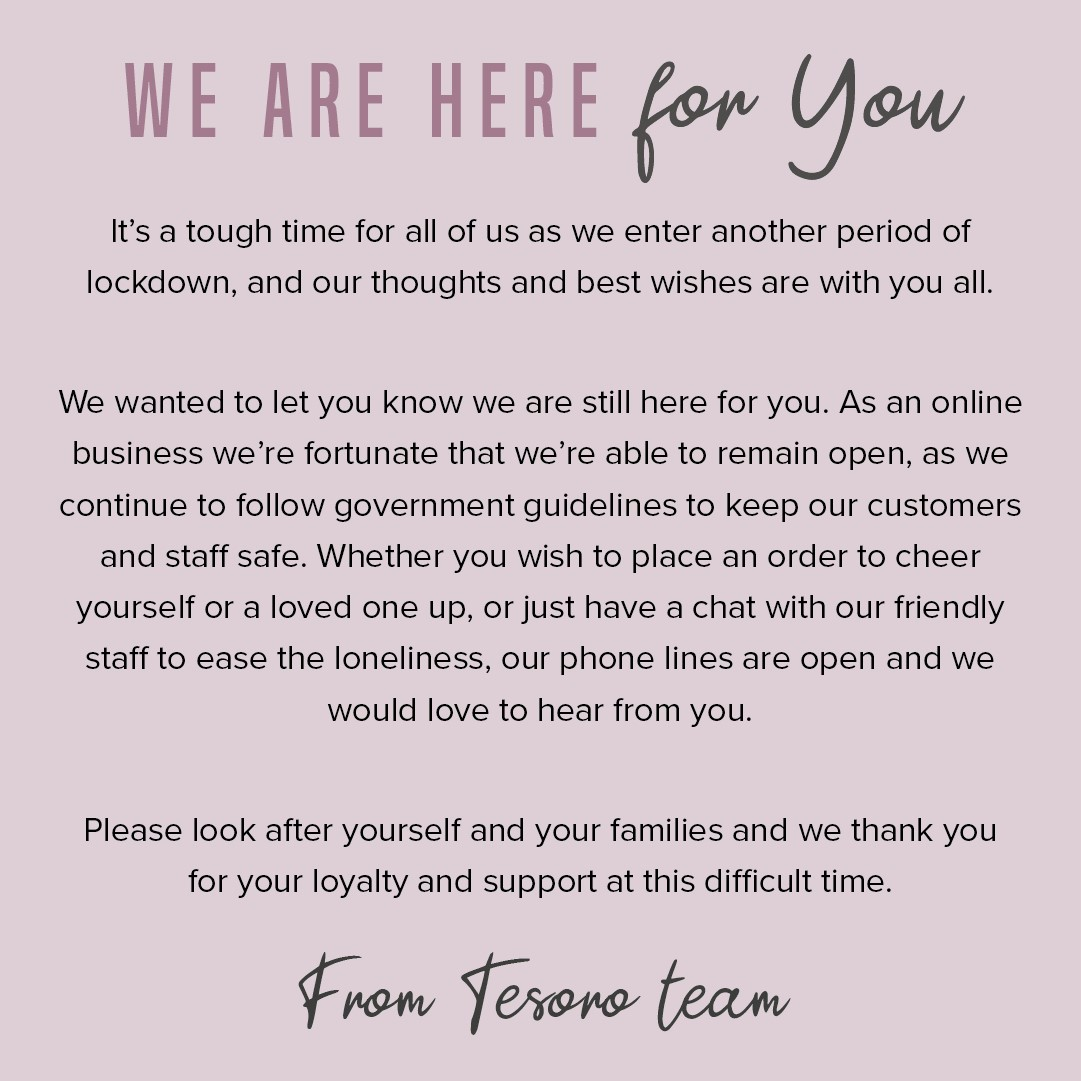 We are open and following government guidelines